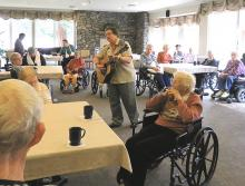 Live music event for residents