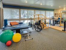 Rehabilitation Therapy room with rehab equipment