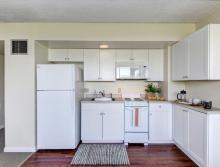 Kitchen in Deluxe One Bedroom
