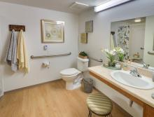 Eskaton Village Grass Valley apartment bathroom.