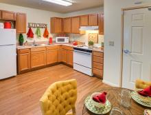 Eskaton Village Grass Valley apartment kitchen.