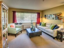 Eskaton Village Grass Valley apartment family room.