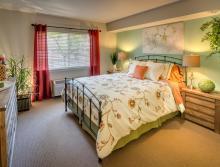 Eskaton Village Grass Valley master bedroom.