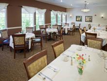 Eskaton Lodge Cameron Park's dining room.