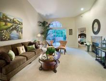 Patio home living room