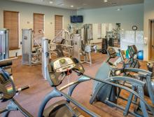 Village Center's fully-equipped  workout room.