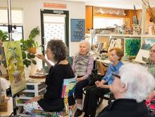 The Reutlinger Community's art class