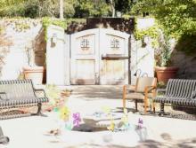 The Reutlinger Community's courtyard
