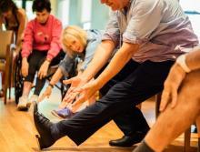 The Reutlinger Community exercise class