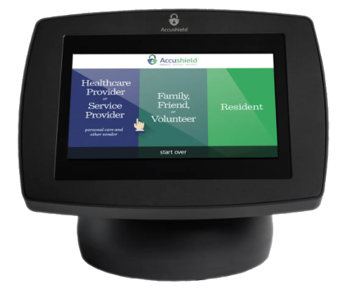 Accushield sign-in monitor