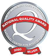 American Health Care Association Silver—Commitment to Quality Award logo