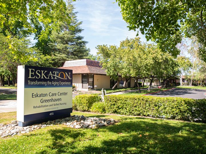 Eskaton Care Center Greehaven sign