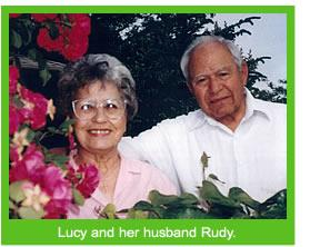 Lucy with her husband Rudy.