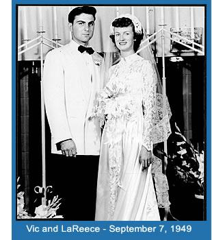Wedding photo of Vic and his wife LaReece.