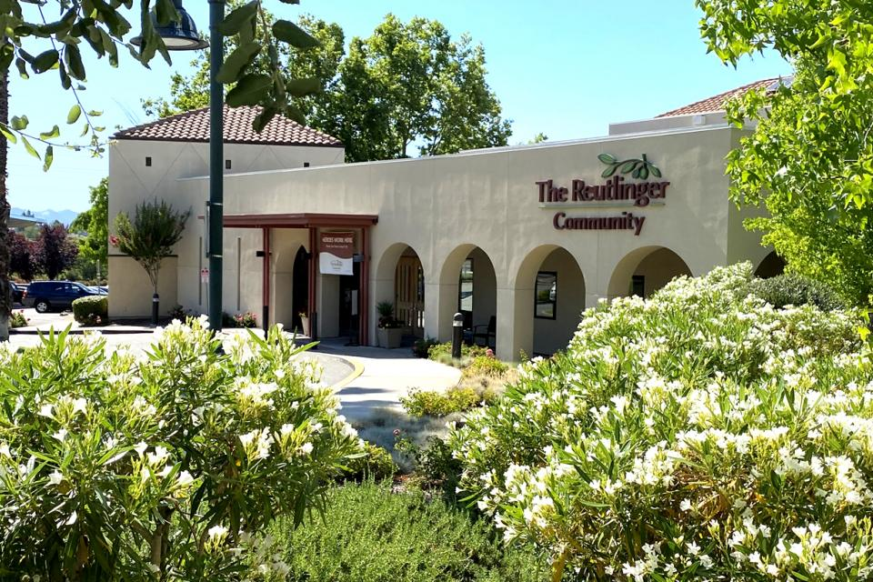 Located in Danville, CA, The Reutlinger is a premiere senior living community offering varying levels of living options - front exterior