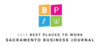 2018 Sacramento Business Journal Best Place To Work logo